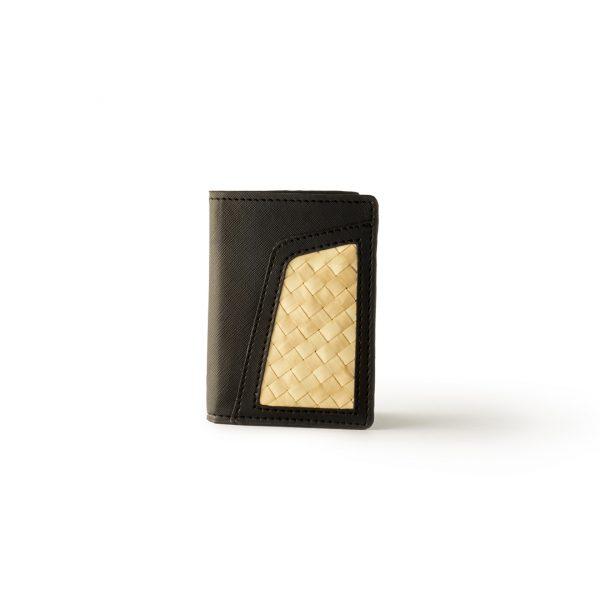 Dompet Lipat Kulit dengan Anyaman