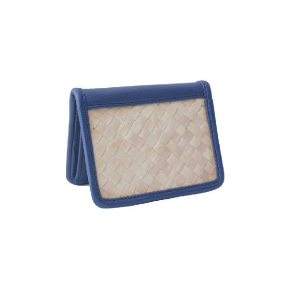 Card Holder Biru Anyaman Lontar