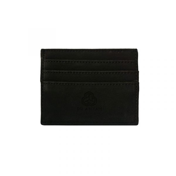 Card Holder Hitam Anyaman Palmyra