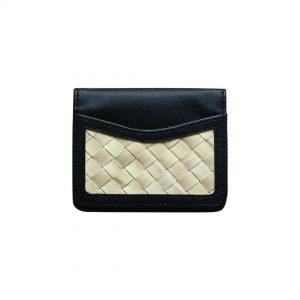 Dompet Kecil Hitam dengan Anyaman
