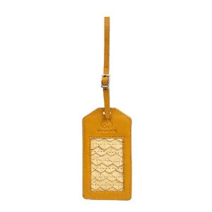 Luggage Tag Anyaman Warna Kuning