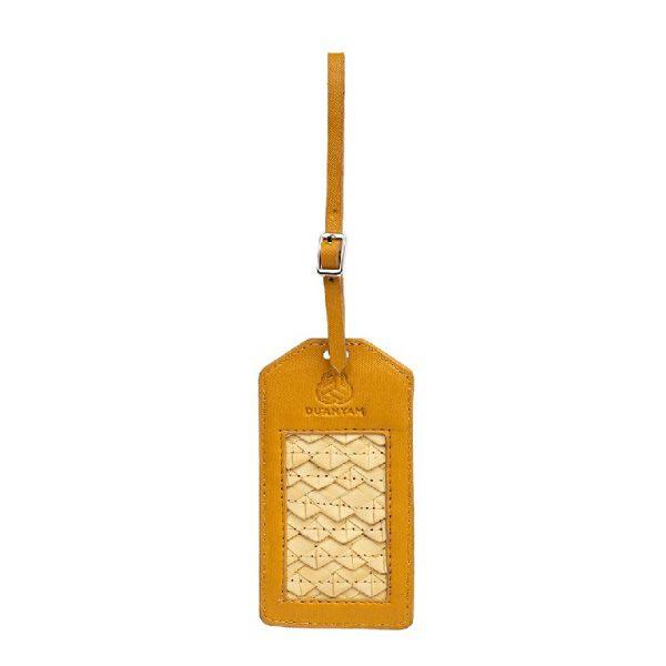 Luggage Tag Anyaman Warna Kuning