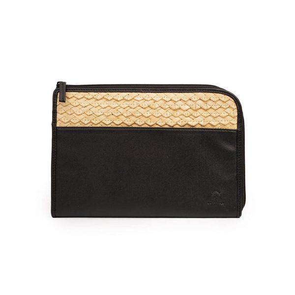 Case Tablet Hitam dari Anyaman